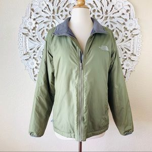 {The North Face} Light Green Insulated Jacket